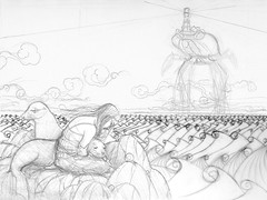 WIP Sea Lion Dream - Rough sketch 2