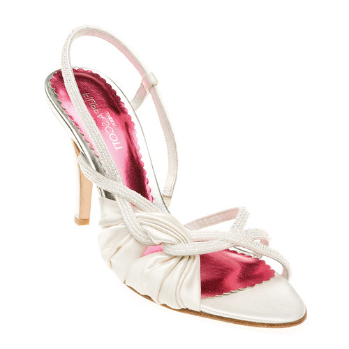 High heel wedding shoes with ankle strap