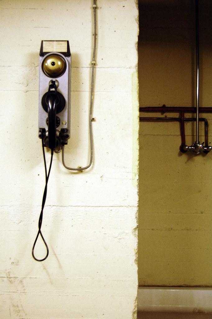 Dusche mit Telefon