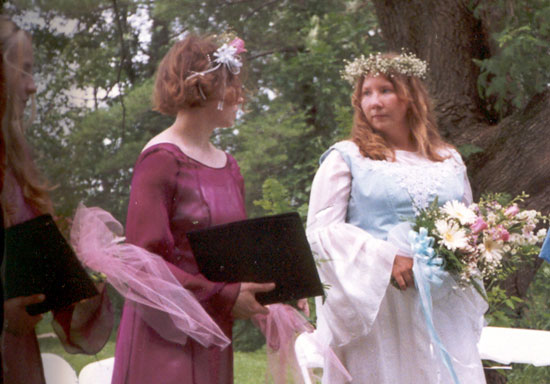 Alyce at her First Wedding