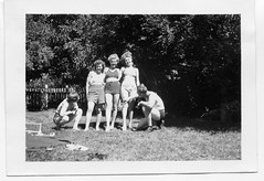 Their legs! Exclaimation point! (Awkward Boy Hero) Tags: red oregon portland picnic legs northwest mary jo thigh shorts comparison oldphotos sunbathing edna bikinis 1947 foundphotos lyle antiquephotos somanyuniquetreasures exceptmaybenotoregon awkwardboyhero