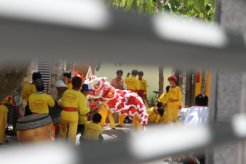 Arrival of the Dragon Dancers