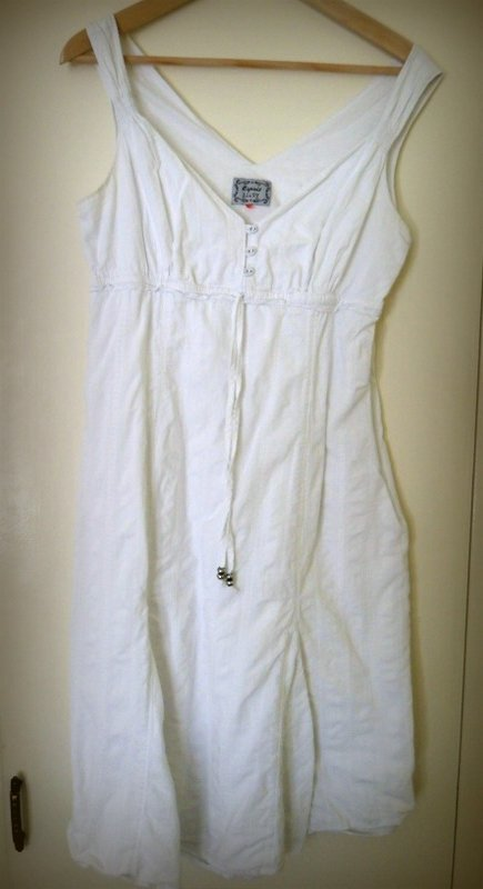 White Esprit dress, unironed