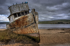 The Point Reyes at Inverness (Matt Granz Photography) Tags: california beach clouds boat nikon pacific dunes tokina shipwreck marincounty pointreyes wreck 1224mm hdr inverness d90 tonemapped tomalasbay