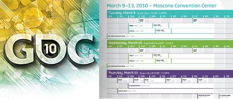 GDC 2010 Logo, Schedule