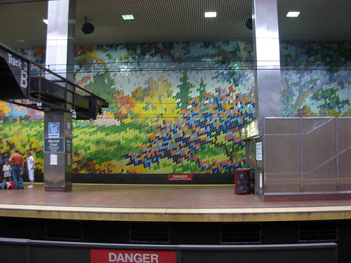 Mosaic Tile Mural at Market East Station