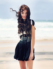 7727. (p.aper.) Tags: sea portrait beach fashion sand waves kingscliff