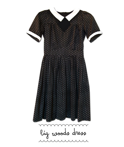 big woods dress black & white spot