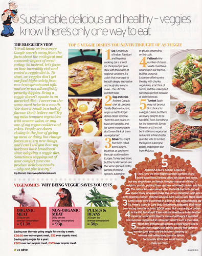 Messy Vegetarian Cook in Olive Mag!