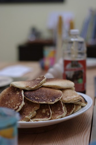 Whole Wheat Hotcakes with wheatgerm and buttermilk