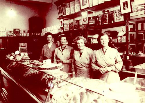 Baker's Shop, Westmuir St, Parkhead, 1961.