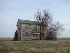 Once a grand old farmhouse (David Sebben) Tags: wood windmill saint farmhouse rural illinois columns foundation limestone features augustine brackets portico craftsmanship fluted