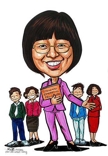 Caricature for Ministry of Manpower - 6