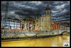 The old market of La Ribera and the church of San Anton, Bilbao. Euskadi (Asi75er) Tags: old city travel church clouds photoshop canon eos market iglesia bilbao elements nubes bizkaia euskalherria ria hdr euskadi bilbo basquecountry paisvasco photoshopelements 400d canoneos400d asi75er asiersanmillan