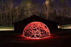 Photon Dome (Dennis Calvert) Tags: longexposure light red lightpainting art canon lights alabama xsi lapp sooc 450d lightjunkie denniscalvert photonmancer