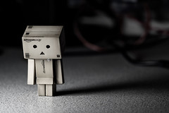Alone in Darkness (edmundlwk) Tags: canon dark toy japanese robot amazon ebay alone shadows sad box depressed figurine canon100mmf28macro sorrow edgarallanpoe inmyroom danbo amazoncojp 50d flickrchallengegroup flickrchallengewinner danboard