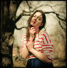 Emilie III (Andreas Ulvo) Tags: portrait film fashion analog hasselblad medium format analogue provia100f 500cm