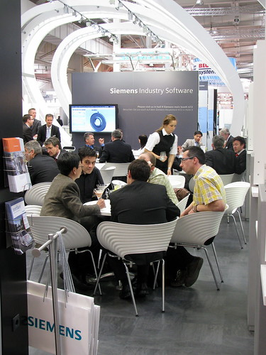 The Siemens PLM Software Booth