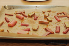 roasted rhubarb with vanilla and rose syrup (sassyradish) Tags: cooking fruit dessert spring sweet kosher rhubarb sassyradish glutenfree parve