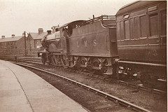 Found photograph (70023venus2009) Tags: station compound railway steam locomotive midland foundpictures railwayman 1162