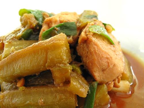IMG_4305 Bitter Gourd braised with Chicken ,苦瓜焖鸡