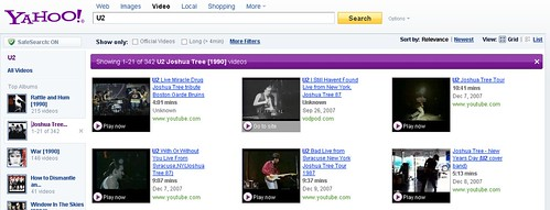 Yahoo! Video Search Music Refiner