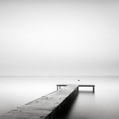 Just lines VI (p i c a) Tags: longexposure sea seascape beach water rock strand skne seaside sweden jetty vatten hav brygga resund bjrred ndfilter bwnd110