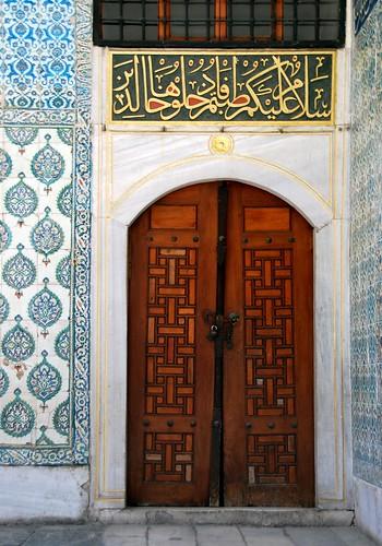 harem doorway, topkapi palace, istanbul