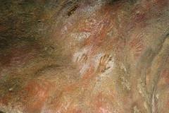 Aboriginal hand prints at Mulka's Cave (Helen M Evans) Tags: australia aborigine cave westernaustralia handprints mulkascave aboriginalhandprints