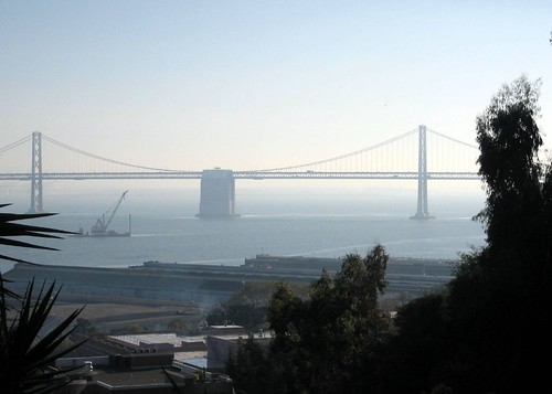 Bay Bridge from the bottom of Telegraph Hill