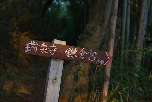 091121 天園ハイキングコース 標識