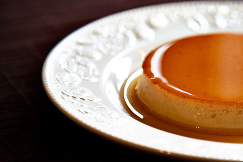 pumpkin leche flan half
