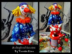 Risadinha (Art Vanessa Lima) Tags: clown artesanato paz palhaos cabaas porongos vanessalima