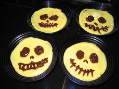 Dia de los Muertos pudding cups. (11/01/2009)