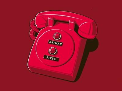 Batman Pizza phone