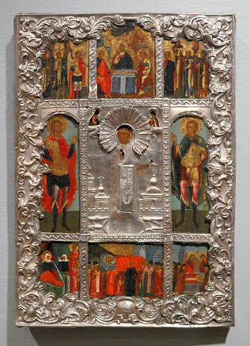 Russian Icon, at the Saint Louis University Museum of Art, in Saint Louis, Missouri, USA - Saint Nicholas 6