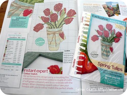 Spring Tulips Cross Stitch Kit