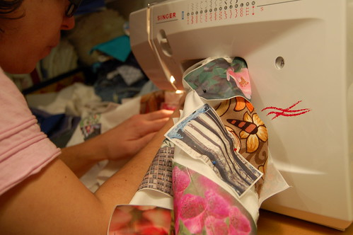 Me sewing