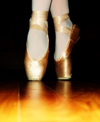 a classic (allisoncorbin17) Tags: wood pink ballet classic dark shoes pointe slippers pointeshoes bloch
