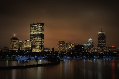 Boston Back Bay at Night (Werner Kunz) Tags: world city longexposure trip travel cambridge light vacation urban usa holiday reflection building tower boston skyline night america river dark ma lights town us nikon downtown shot massachusetts newengland wideangle center stadt shutter 40 johnhancock dri prudential hdri werner beantown metropole skyscrapper kunz 20fav explored nikond90 werkunz1