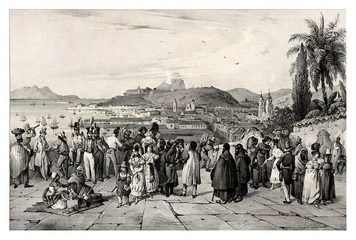 018- Vista tomada delante de la iglesia de San Bendo en Rio de Janeiro- Adam Victor- Viagem pitoresca através do Brasil 1835