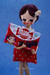 Hayley Rose (Posh Totty Designz) Tags: japan vintage japanese doll chocolate retro spotty cloth milky rosey posedoll