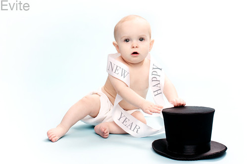Evite Copyrighted: Greta as Baby New Year 2010!
