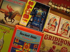 Replica old toys for sale in the Fair Oaks Pharmacy and Soda Fountain on Route 66 in South Pasadena, California