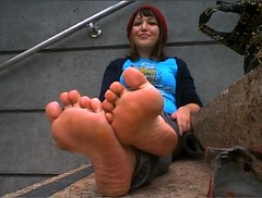 Proud woman with sexy soles 3 (RoughToughSoleMan) Tags: woman feet female fetish foot mature heels rough tough soles cracked calloused