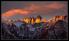 Mt Whitney - First Light 2010 (Mike Hornblade) Tags: winter sunrise landscape newyears sierranevada mitwhitney