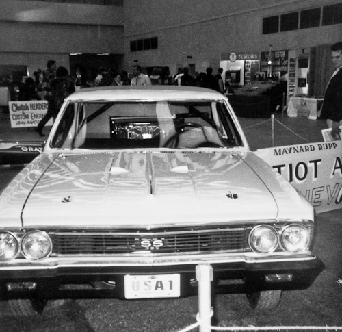 Maynard Rupps rear-engined Chevoom Chevelle funny car won the coveted Ridler Award at the 1966 Detroit Autorama.
