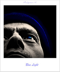 757 Blue Light (Nebojsa Mladjenovic) Tags: blue light portrait man monochrome face digital self polaroid lumix eyes panasonic portret onblack fz50 selectivecoloring svetlost abigfave anawesomeshot mladjenovic mygearandmepremium