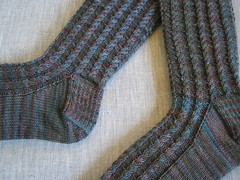 Cabletini Toe-Up Socks