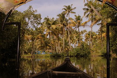 INDIAN PARADISE (CHECKMENOW) Tags: trees india boat alleppey